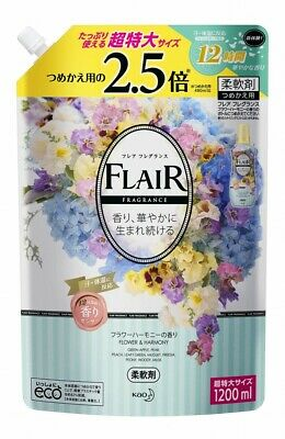Kao Japan FLAIR FRAGRANCE Laundry Fabric Softener Flower & Harmony 1200ml Refill
