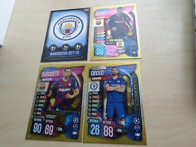 Topps Match Attax- Champions League/ Europa League Cards 2019/2020