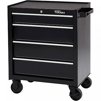 Rolling Tool Box Storage Chest 4 Drawer Mechanic Locking Cart Cabinet on Wheels