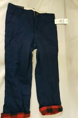 GAP Boys Blue Cotton Twill Straight Leg Regular Fit Chino Trouser (4 Yrs)