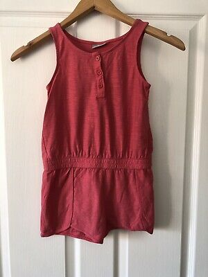Girls Matalan Pink Cotton Shorts Playsuit All In One Age 7 Years Excellent