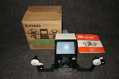 Goko A-301 D-8 8mm Film Editor Viewer Boxed With Instructions