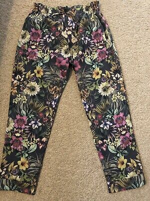 Girls Next Floral Flow Lightweight Trousers Pants Age 11 Years Immaculate