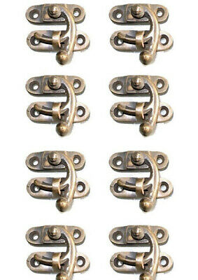 8 tiny small box Latch catch solid brass furniture antiques doors trinket 3 cm B