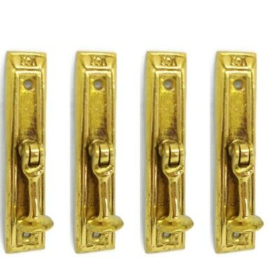 10 aged NEW old style pulls handles heavy brass vintage cupboard key hole deco B