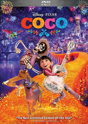 Coco (DVD, 2018 Pixar) FREE Shipping New & Sealed w/ Slipcover