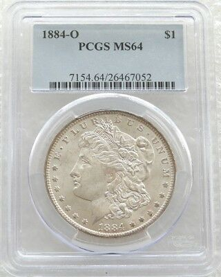1884-O United States Morgan $1 One Dollar Silver Coin PCGS MS64 New Orleans