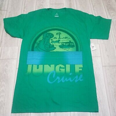 NWT Disney Parks Jungle Cruise Green T-Shirt Unisex Size Small Disneyland Resort