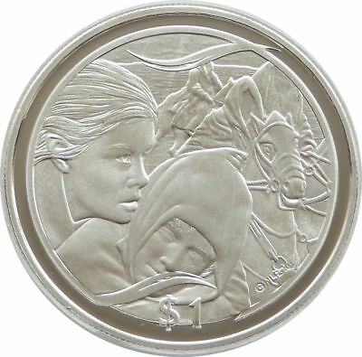 2003 New Zealand Lord of Rings Flight to Ford $1 One Dollar Silver Proof Coin