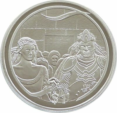 2003 New Zealand Lord Rings Aragorns Coronation $1 One Dollar Silver Proof Coin