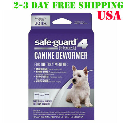 Safe Guard Canine Dewormer for Dog Puppy Tapeworm Worms Medicine Safeguard 3Day