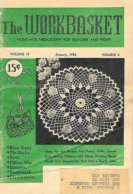 1954 Nine Issues of The Workbasket Magazine Vol. 19 No. 4 To Vol. 20 No. 1
