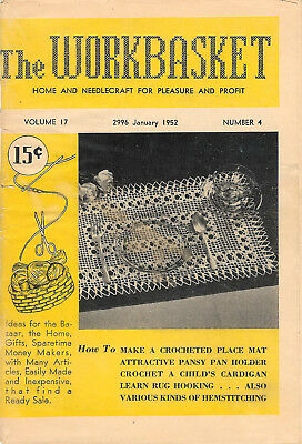 1952 Seven Issues of The Workbasket Magazine Vol. 17 No. 4 To Vol. 18 No. 3