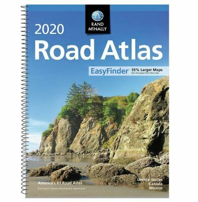 Rand Mcnally USA 2020 >Road Atlas BEST Large Scale Travel Maps United States