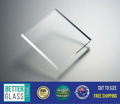 Clear Acrylic Perspex 6mm Thick - Cut Sheets - Select Size -  No UV Yellowing