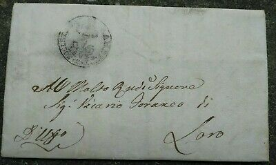 1858 Letter Prephilatelic from Their Piceno with Contents Interesting