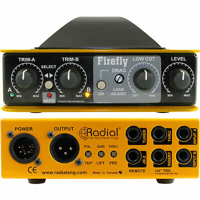 Radial Firefly Dual Input Tube Direct Box - Fire Fly Isolated Output DI