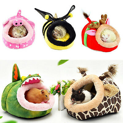 Soft Pet Warm Guinea Pig Bed House for Small Animal Hamster Rat Hammock Nest Pad