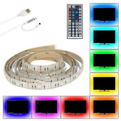 2m Ruban LED Bande USB 60 LEDs 5050 RGB LED TV Light Strip Flexible Noël Déco