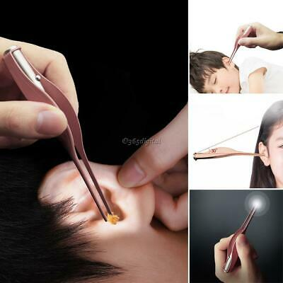 Durable Portable Ear Pick Spoon Ear Cleaner Tool With LED Light 35DI