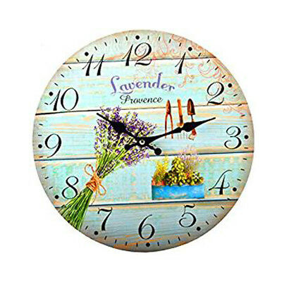 12 Models Wall Clocks Country Wooden Watch Kitchen Bistro Shabby Vintage (La