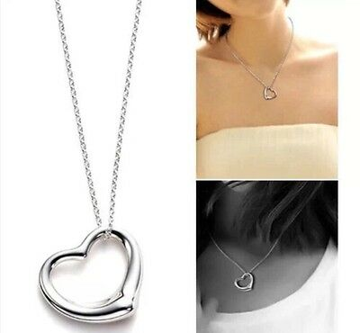 10 x Silver Heart Necklaces Wholesale Joblot Car Boot Gift Quality Jewellery U.K