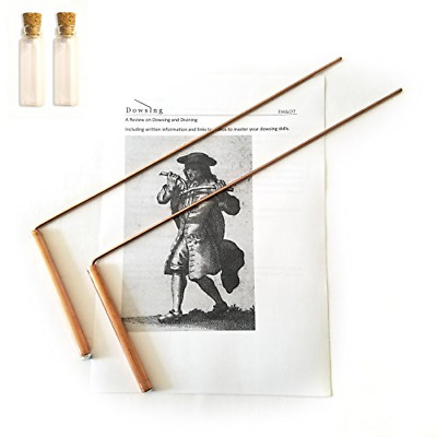 Dowsing Rod Copper Solid Material 99% Ghost Hunting Divining Water Gold Buried