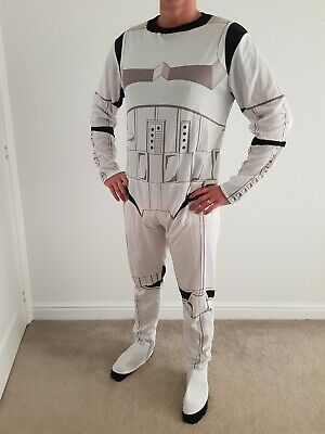 Mens Star Wars Stormtrooper Fancy Dress Costume Outfit Stag Halloween Size XL