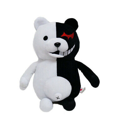 "Dangan Ronpa 2 Danganronpa Mono Kuma Black & White Bear 10"" Plush Soft Doll Toys"