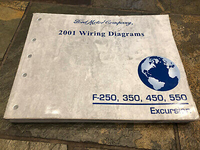 2001 Ford F-250 F-350 F-450 Excursion Wiring Diagrams Electrical Service Manual