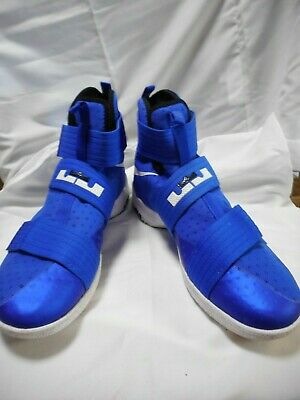 huge discount 3c7f6 b6069 NIKE LEBRON SOLDIER 10 TB Mens Blue LEBRON JAMES Sneakers Sz 14 844380-402
