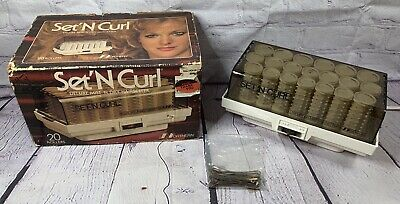 Vtg Set 'N Curl Deluxe Dry or Mist Hairsetter Curlers Clips NORTHERN Hot Rollers