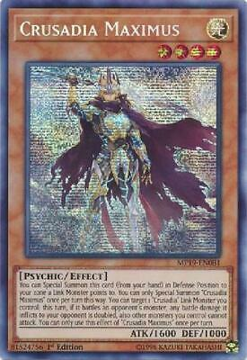 Crusadia Maximus - MP19-EN081 - Prismatic Secret Rare 1st Edition Near