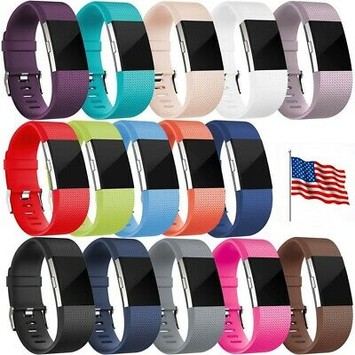 For Fitbit Charge 2 Replacement Silicone Bracelet Watch Band Wristband Large