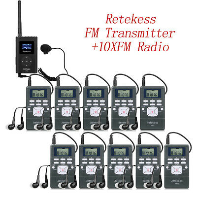 Wireless Tour Guide/Meeting System Transmitter+Receiver+Microphone+Earphone USB