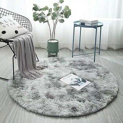 Hairy Carpet Balcony Round Carpet Faux Fur Carpet Bedroom Mat Soft and Comfort