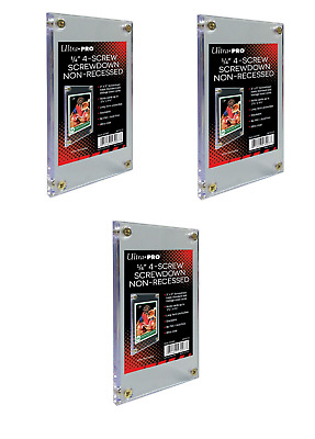 (Pack de 3) Ultra pro 4 Roscada Screwdown Trading Card Soporte Regular No
