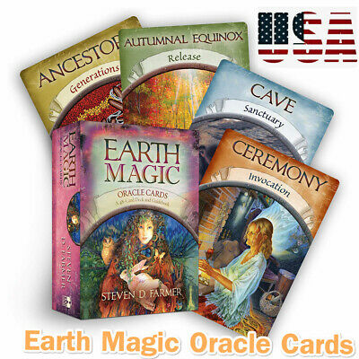 Magic Oracle Cards Earth Magic Read Fate Tarot 48-card Deck And Guidebook Set WM