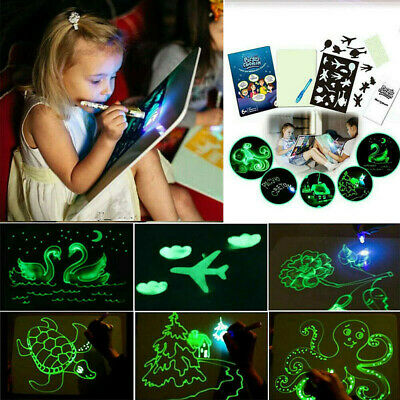 Draw With Light Fun And Developing Education Toy Drawing Board Kids Magic Xmas
