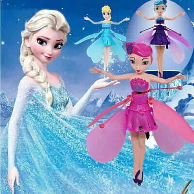 UK Flying Fairy Princess Dolls Magic Infrared Induction Control Toy Xmas Gift PQ