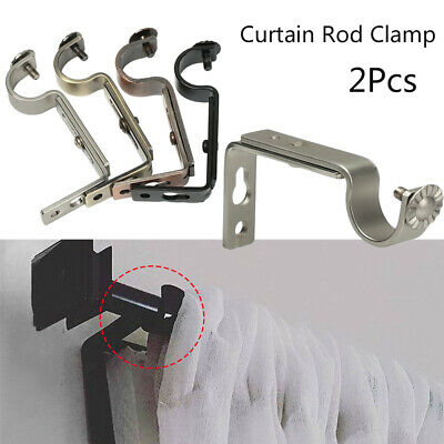 2X Vintage Curtain Rod Bracket Holder Wall Window Frame Curtain Home Hardware