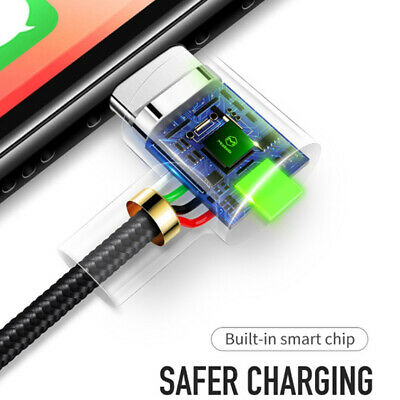MCDODO 90 Degree Right Angle USB Charger lightning Cable Apple iPhone iPod iPad