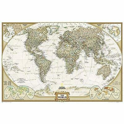 World Executive, Poster Size, laminated Wall Maps World - Map NEW Maps, National