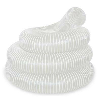 4 Inch X 20 Feet Universal Dust Extractor Hose Heavy-duty Clear Contoured Groove