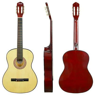 """38"""" Acoustic Beginner Full Size 4/4 Guitar Natural 6 Strings Musical Gifts Adult"""