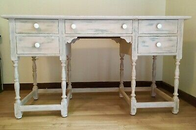 Stunning Antique Victorian Desk MACEY & FOWLER, NY in stylish distressed look