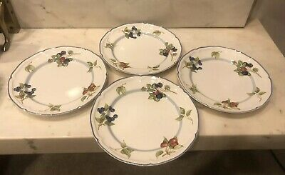 "LOT OF 4 Villeroy & Boch COTTAGE Country Collection Round 10.5"" Dinner Plate"