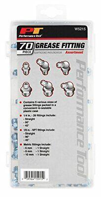 Performance Tool W5215 SAE/MET Grease Fitting Assortment - 70 Piece