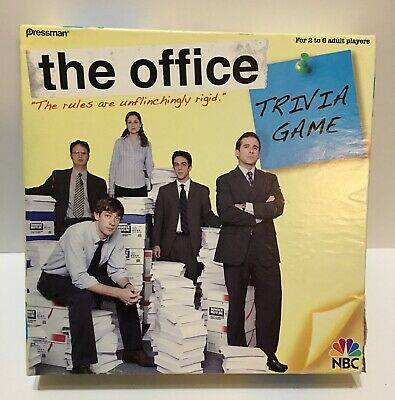 The Office Trivia Board Game Dunder Mifflin NBC Pressman, Box Wear On All Edges