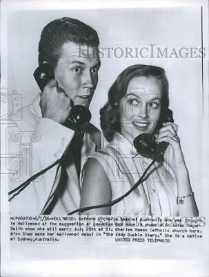 1956 Press Photo Victoria Shaw and Roger Smith - RSH28297